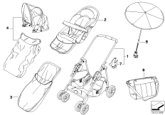 Детск.коляска BMW chrom-marine с принадл