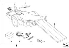 Модуль мотоцикла прицепа