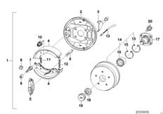 Детали тормозн.механизмов колес прицепа