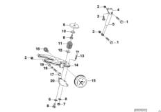 Детали подвески колес прицепа
