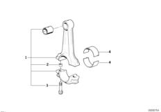 Шатун кривошипно-шатунного механизма