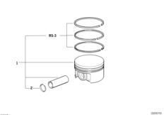 Поршень кривошипно-шатунного механизма