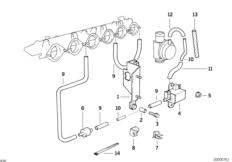 Двигатель с вакуумной сист.управления