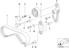 Ременный привод компрессора кондиц.
