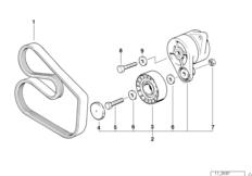 Ременный привод водяной помпы/генератора