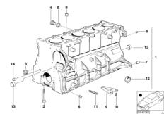Блок-картер двигателя