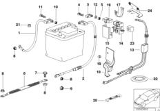 Провод батареи (батарея Зд)