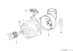 Детали генератора на 140 А
