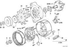 Детали генератора на 65 А