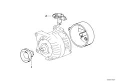 Детали генератора на 70 А