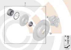 К-т подшипн.ступицы колеса Зд/Value Line