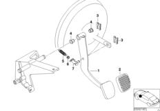 Опорный кронштейн педали/педаль тормоза