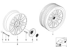 Л/с диск BMW со сдвоенными спицами 51