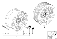 Диск со сдвоенными спицами M II (диз.39)