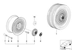 Дизайн с крестообразными спицами(диз.17)