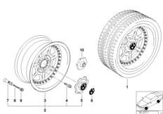 Составной диск с 7 спицами (диз. 19)