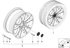 Л/с диск BMW с радиальными спицами 50