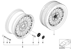 Сост.диск BMW с радиальн.спицами диз.86