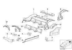 нижние части задних сидений
