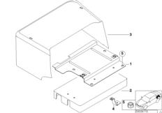 Крышка батареи в багажном отделении