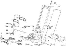 Каркас спорт.сиденья BMW с э/приводом
