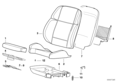 Спортивное сиденье BMW чаша/основание