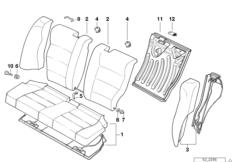 Накладки спинки заднего сиденья