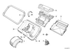 Детали корпуса отопителя Siemens