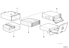 Блок для CD/блок для кассет в вещ.ящике