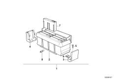 Детали блока для кассет в центр.консоли