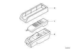 Детали телефона в центральной консоли