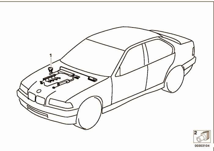 жгут проводов двигателя BMW M3 3.2 S50 E36 Кабриолет, Европа