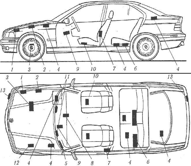 VIN на кузове BMW E36 (3-я