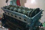 Разборка и сборка двигателя - двигатель снят - (М50)